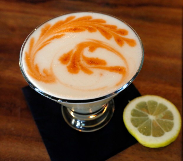 The Pisco Sour is photographed at Limon Rotisserie in Walnut Creek, Calif., on Thursday, Sept. 14, 2017. Limon Rotisserie has brought its signature take on Peruvian small plates to downtown Walnut Creek.(Laura A. Oda/Bay Area News Group)