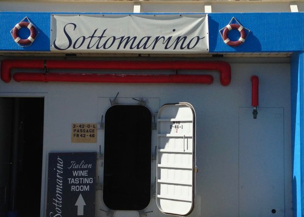 Treasure Island's Sottomarino Winery is one of seven wine-tasting rooms onthe island. (Jackie Burrell/Bay Area News Group)