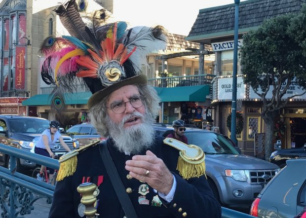 Who knew you could stroll San Francisco's historic waterfront with Emperor Norton? The three-hour Fantastic San Francisco Time Machine Tour explores the city's history. (JackieBurrell/Bay Area News Group)