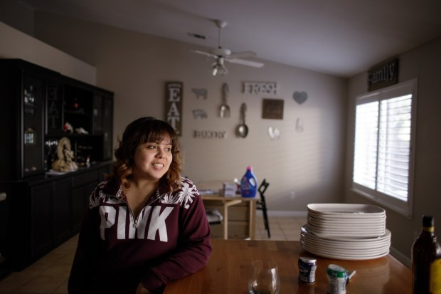 Portrait: Katrina Gonzalez, 25, left San Jose earlier this year and moved to Stockton because it was the closest city where she and her husband could afford to buy a home. (Dai Sugano/Bay Area News Group)