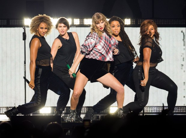 Taylor Swift performs at the Poptopia Holiday concert presented by 99.7 Now! at the SAP center in downtown San Jose, California on Saturday, December 2, 2017. (LiPo Ching/Bay Area News Group)