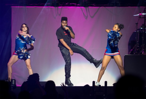Khalid performs at the Poptopia Holiday concert presented by 99.7 Now! at the SAP center in downtown San Jose, California on Saturday, December 2, 2017. (LiPo Ching/Bay Area News Group)