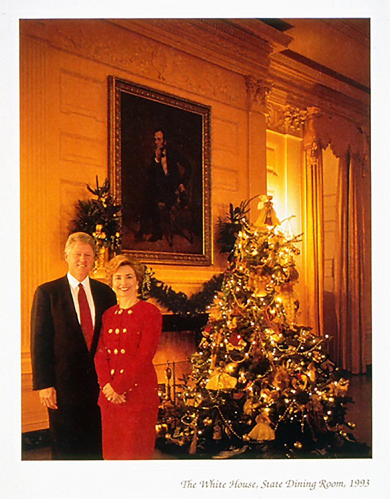 Bill and Hillary's White House Christmas card 1993