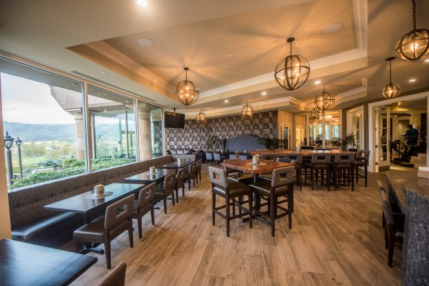 The Silver Creek Valley Country Club's refurbished clubhouse features fine dining with fabulous views.