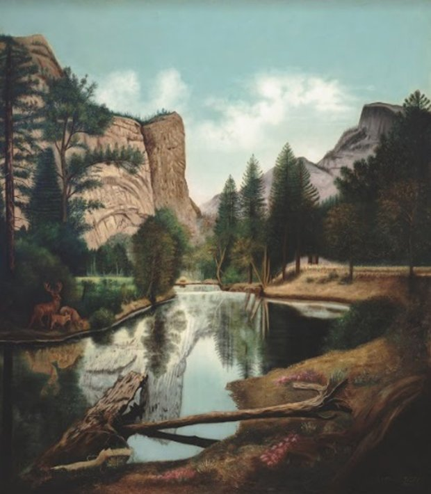 "Emma Michalitschke's ""Yosemite Landscape"" (1913). (University ofCalifornia, Berkeley Art Museum and Pacific Film Archive)"