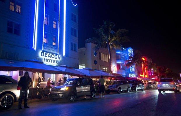 Ocean Drive in the South Beach neighborhood of Miami Beach, Feb. 20, 2013.MUST CREDIT: Bloomberg photo by Ty Wright