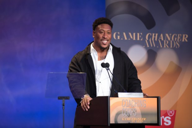 In a moving speech, Raiders linebacker Bruce Irvin said of Ken Norton Jr.:'I just thank God for bringing us together. This is forever, man.' (Photo courtesy: James Hall)