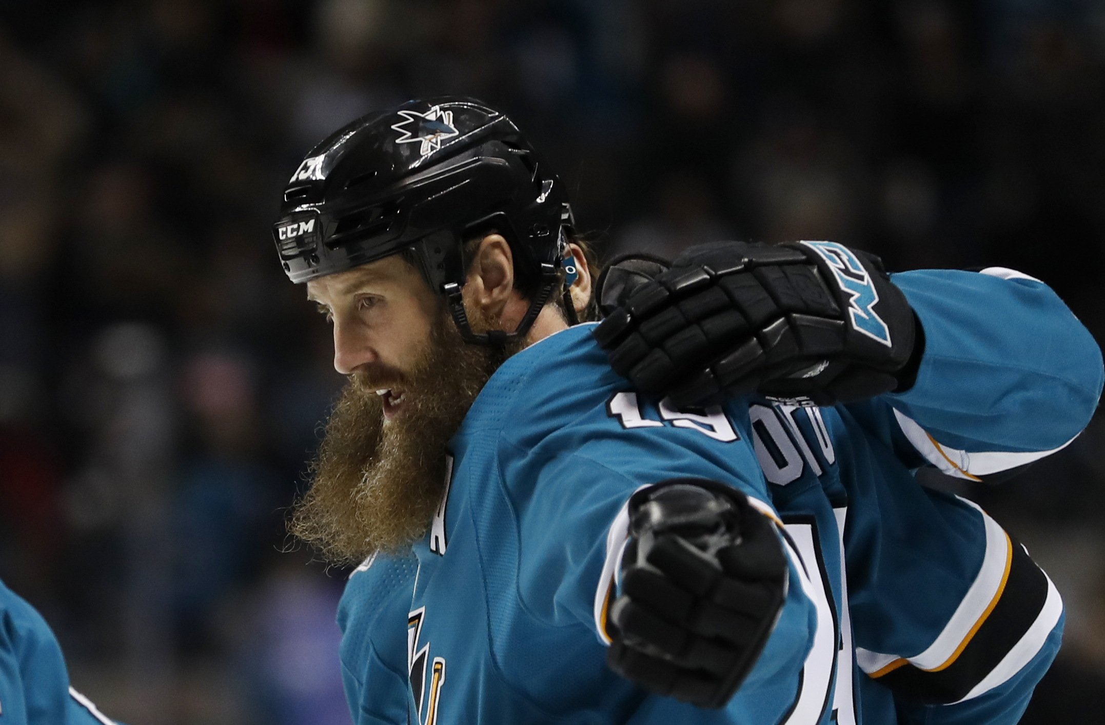 Sharks F Joe Thornton out for several weeks with knee injury