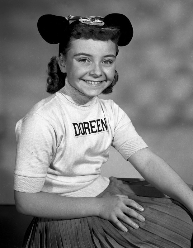 Disney Mouseketeer Doreen Tracey. (Disney via AP)