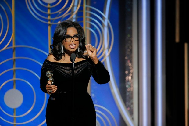 Cecil B. DeMille Award — OPRAH WINFREY. (Paul Drinkwater/NBCUniversal via Getty Images)