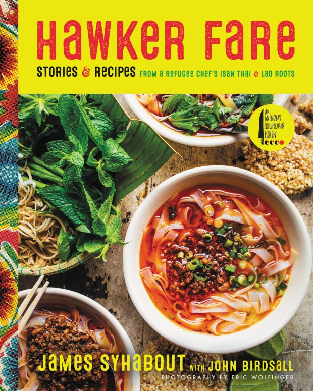 "James Syhabout's popular Hawker Fare restaurant in Oakland offered foodinspired by the cuisines of Thailand and Laos. Now there's a ""Hawker Fare"" cookbook."