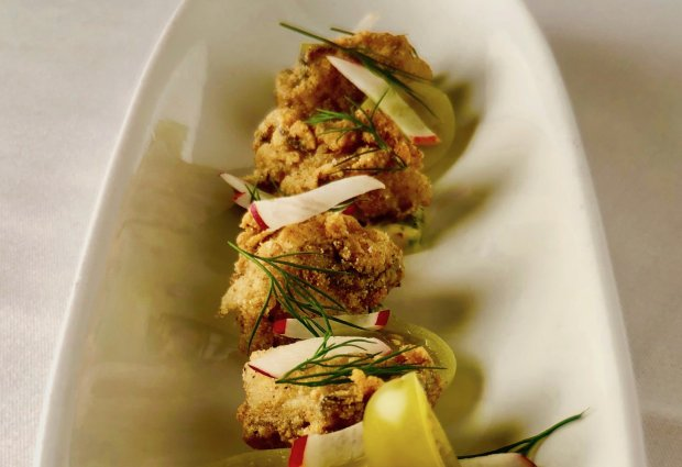 Crisply fried oysters are an Oysterette specialty. (Courtesy of EricMason/The Oysterette)