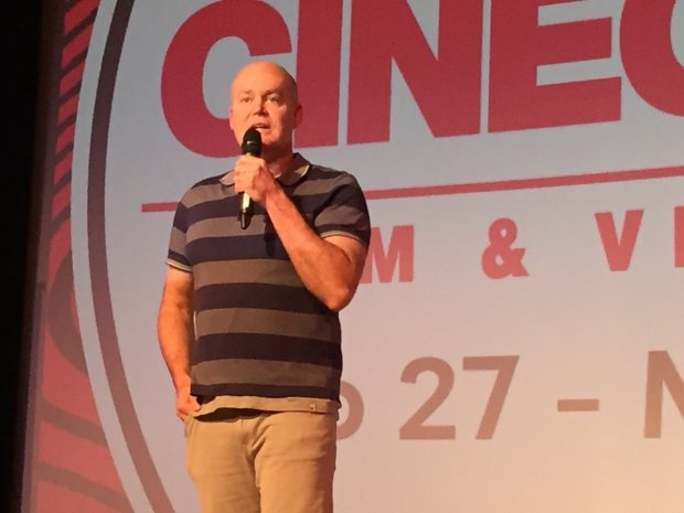Cinequest co-founder Halfdan Hussey announced the lineup for theCinequest film festival, which opens Feb. 27 in downtown San Jose. (Sal Pizarro/Bay Area News Group)