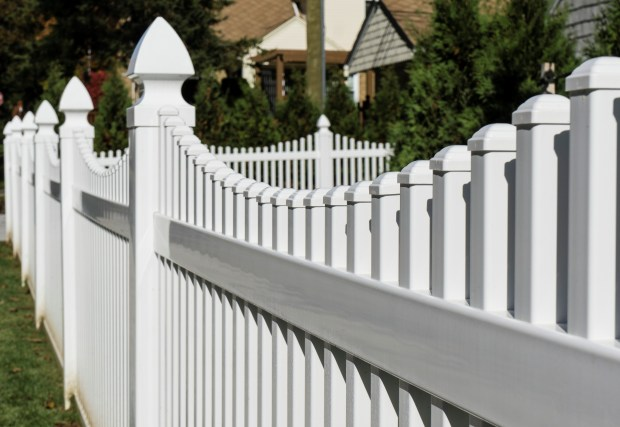 Vinyl fencing is rising in popularity as an affordable, maintenance-free alternative to wood. (Photo courtesy American Fence Association.)