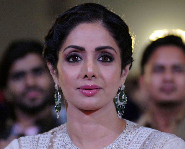 Sridevi Kapoor, January 2018. (AFP PHOTO / Sujit Jaiswal)
