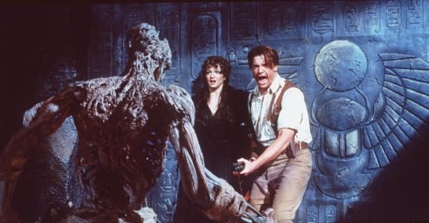 "Rick O''Connell (Brendan Fraser) must save Evelyn (Rachel Weisz) and the rest of the world from the 3,000 year-old curse in ""The Mummy."" 1999 Universal Studios. All Rights Reserved."