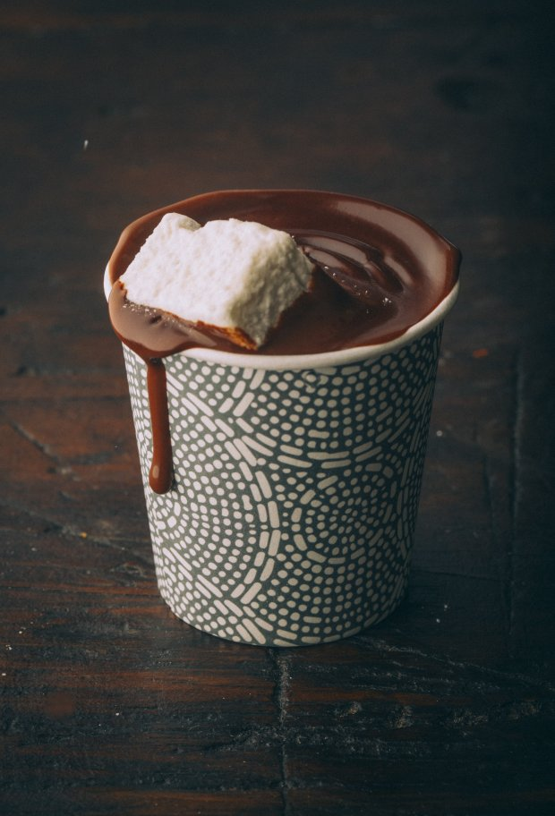 Dandelion's European Hot Chocolate is an Italian-style hot cocoa that'srich and thick and served daily in the San Francisco's chocolate factory cafe (Photo: Eric Wolfinger).