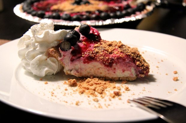 A No-Bake Blueberry Cheesecake adds a sweet note to any Super Bowl party,says San Francisco chef Kathy Fang. (Courtesy Kathy Fang)