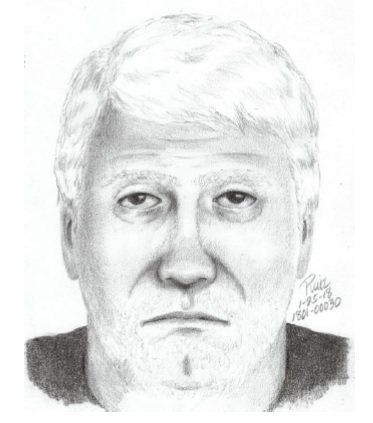 The man depicted in this police sketch is being sought in an unprovoked attack on a transgender De Anza College student on Jan. 24, 2018 in what police are investigating as a hate crime. (Foothill-De Anza Police Dept.)