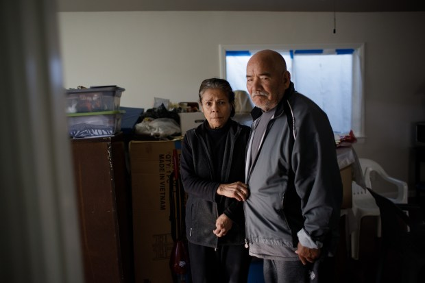A year after the Coyote Creek flood of 2017, Concepcion Romero, 67, and her husband Francisco, 70, who suffers from Parkinson's disease, are still trying to repair the house they lived in for nearly 40 years, until last February when flood water spilled into their home and damaged the foundation. City officials say they're doing what they can to help flood victims, but the Romeros are part of a new lawsuit that accuses the city, Santa Clara County and the Santa Clara Valley Water District of botching their response to the disaster. (Dai Sugano/Bay Area News Group)