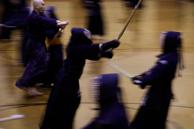 Students and teachers participate in a weekly kendo practice on Jan. 30, 2018, at the San Jose Kendo Dojo, which was founded in 1962. (Dai Sugano/Bay Area News Group)