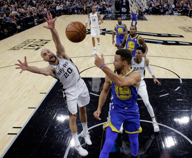 The Warriors praised the Spurs on how they stayed patient with keeping their core together. (AP Photo/Eric Gay)