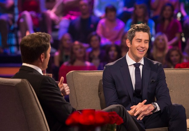 Chris Harrison and Arie Luyendyk Jr. during 'The Bachelor: After the Final Rose.' (ABC/Paul Hebert)