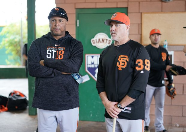 New Giants assistant hitting coach Rick Schu (right) will assist AlonzoPowell (left) as the team looks to revive an offense that ranked last in the majors in several power categories last season. (Photo courtesy: San Francisco Giants)