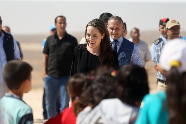 US actress and UNHCR special envoy Angelina Jolie. (Photo by Jordan Pix/Getty Images)