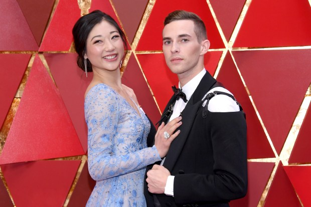 HOLLYWOOD, CA - MARCH 04: Mirai Nagasu (L) and Adam Rippon attend the 90th Annual Academy Awards at Hollywood & Highland Center on March 4, 2018 in Hollywood, California. (Photo by Kevork Djansezian/Getty Images)