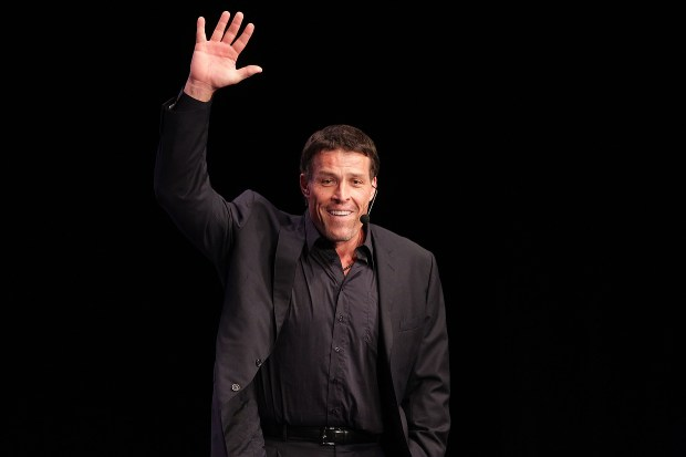 Tony Robbins speaks during the Maria Shriver Women's Conference at the Long Beach Convention Center on October 25, 2010 in Long Beach, California. (Photo by Frederick M. Brown/Getty Images)
