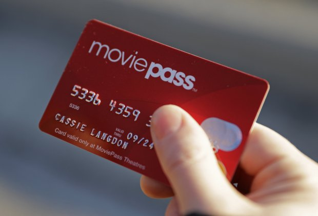 A MoviePass credit card allowssubscribers to gain entry to one movie a day for one flat monthly fee. (AP Photo/Darron Cummings)