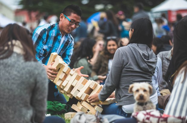 Families flock to San Francisco's Presidio on Sundays from Spring throughFall for Presidio Picnics, hosted by Off the Grid and the Presidio Trust. The Festivities include food trucks, live music, free yoga, kids activities and more. (Courtesy of Robin Eagan)