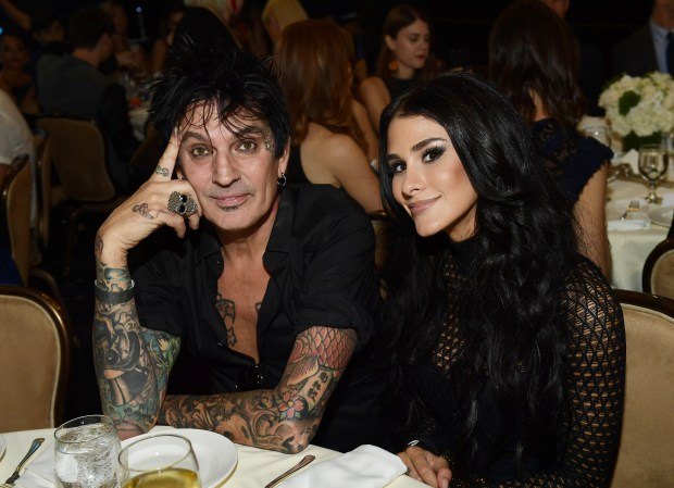 BEVERLY HILLS, CA - SEPTEMBER 26: (L-R) Tommy Lee and BrittanyFurlan attend the 2017 Streamy Awards at The Beverly Hilton Hotel on September 26, 2017 in Beverly Hills, California. (Photo by Matt Winkelmeyer/Getty Images for dick clark productions)