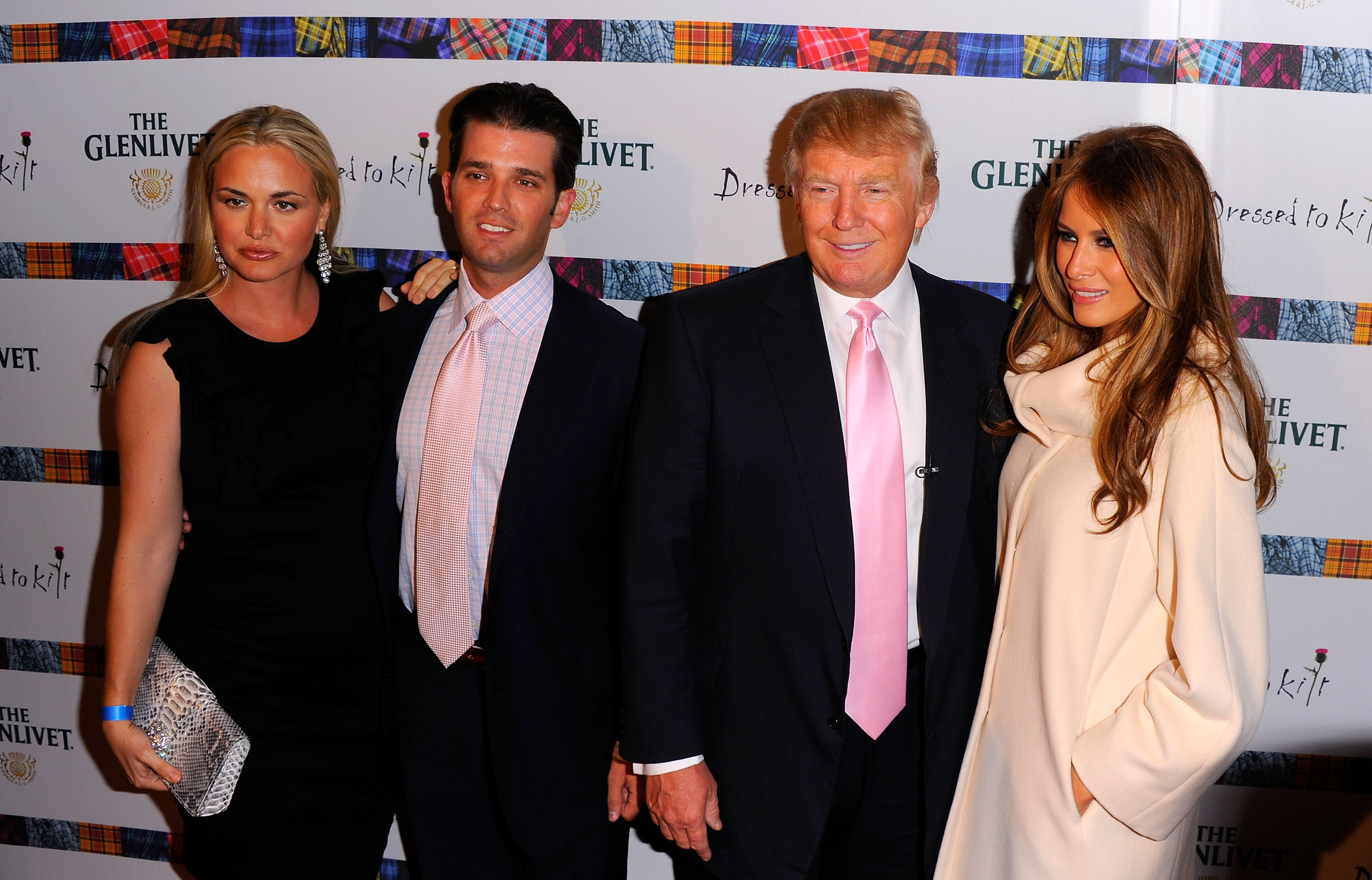 NEW YORK NY- APRIL 05  Vanessa Trump Donald Trump Jr. Donald Trump and Melania Trump attend the 9th Annual