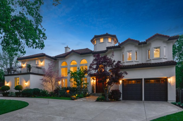 This five-bedroom Mediterranean-style home in Danville features grand rooms and a flow that is perfect for entertaining.