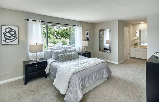 Both bedrooms are large with view windows and plenty of light.