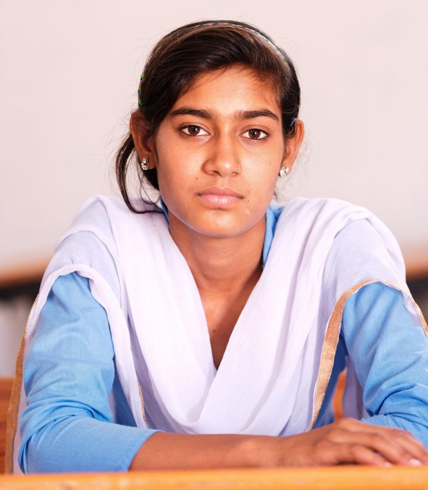 Nikita Chauhan, 14, was one of the girls who started a protest in hopes ofbeing able to continue their education in the village school, to avoid the come-ons from men on the 1.5-mile walk to the high school. MUST CREDIT: Photo for The Washington Post by Poras Chaudhary