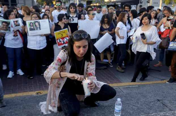Relatives and friends of three missing students take part in a demonstration April 5 in Guadalajara. (Ulises Ruiz/AFP/Getty Images)