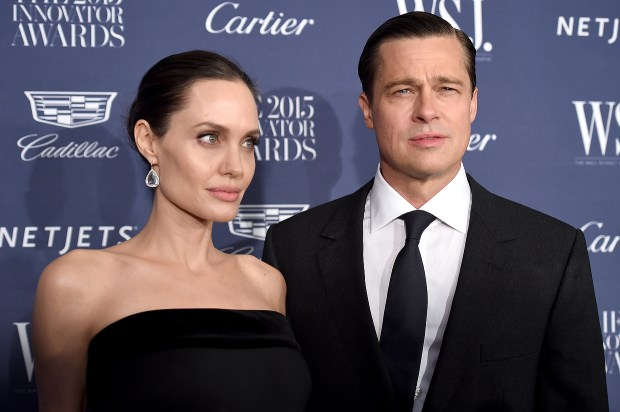2015 Entertainment Innovator Angelina Jolie Pitt (L) and Brad Pitt attend the WSJ. Magazine 2015 Innovator Awards at the Museum of Modern Art on November 4, 2015 in New York City. (Photo by Dimitrios Kambouris/Getty Images for WSJ. Magazine 2015 Innovator Awards)