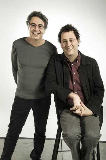 Tony Taccone and Tony Kushner, director and playwright of *Angels inAmerica *at Berkeley Repertory Theatre. (courtesy of Kevin Berne)