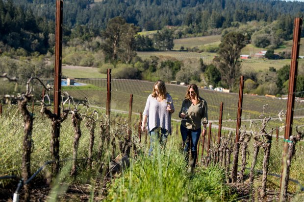 Sebastopol's Dutton Estate makes a splendid wine-tasting destination forMother's Day. Co-owner Tracey Dutton runs the tasting room with her daughter, Kyndall.(Courtesy Dawn Heumann)