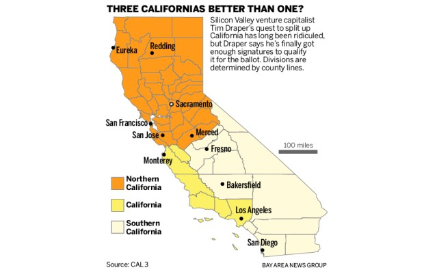 Is California Too Big Voters May Get Chance To Split Golden State