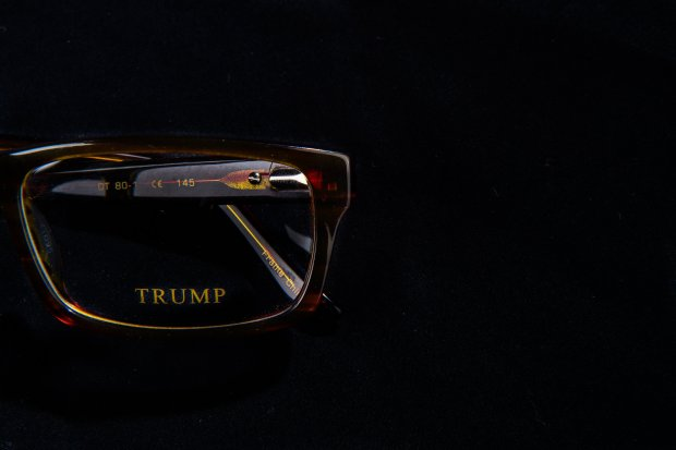 Donald Trump branded glasses. MUST CREDIT: Washington Post photo by SalwanGeorges