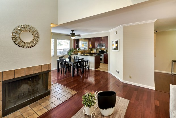 The townhome features 1,540 square feet of living space.