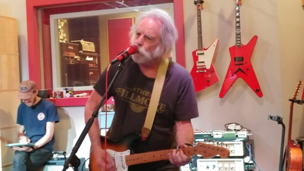 Bob Weir at Sammy Hagar's studio (Jim Harrington, Staff)
