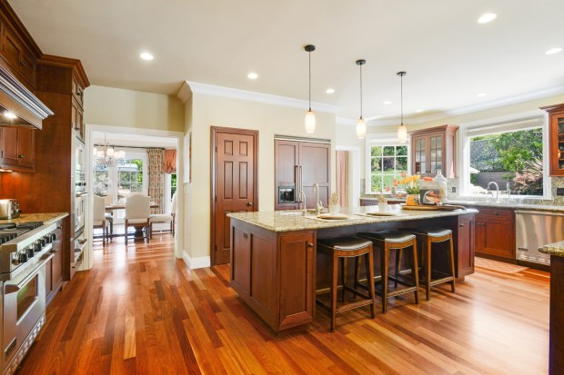 The home's spacious chef's kitchen provides lots of prep room for multiple cooks.