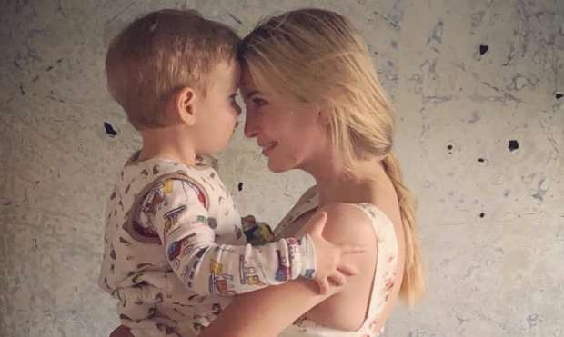 Ivanka Trump and her son Theodore Kushner (@IvankaTrump screen capture)