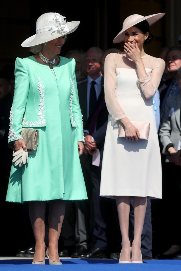 LONDON, ENGLAND - MAY 22: (L-R) Camilla, Duchess of Cornwall and Meghan, Duchess of Sussex attend The Prince of Wales' 70th Birthday Patronage Celebration held at Buckingham Palace on May 22, 2018 in London, England. (Photo by Chris Jackson/Chris Jackson/Getty Images)