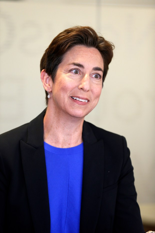 Susan Ellenberg is a candidate for the Santa Clara County Board of Supervisors to represent District 4. She was photographed on April 10, 2018 while being interviewed by the opinion & editorial board of the Bay Area News Group. (Michael Malone/Bay Area News Group)